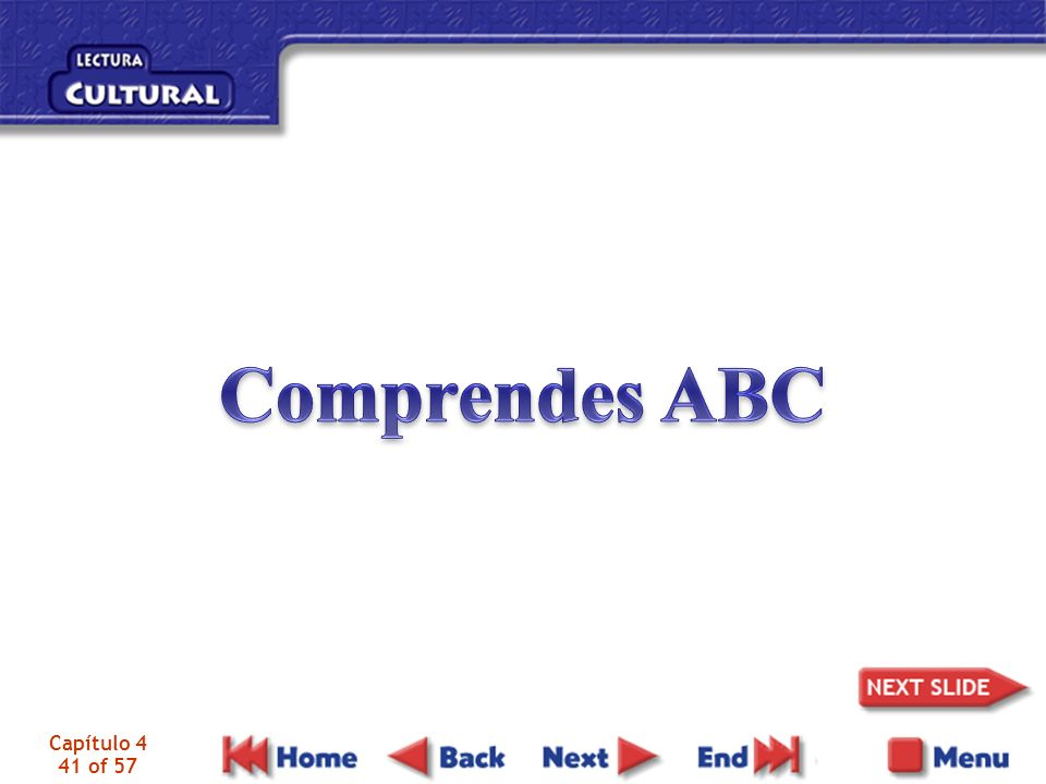 Comprendes ABC Capítulo 4 41 of 57