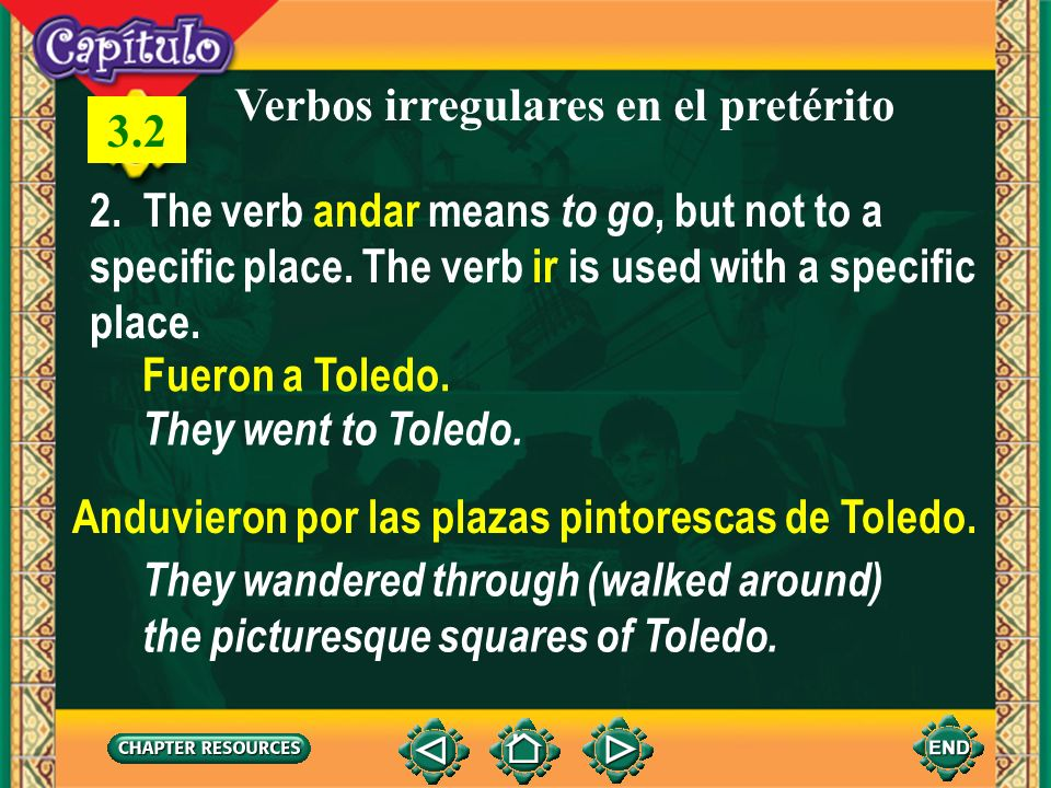 Verbos irregulares en el pretérito