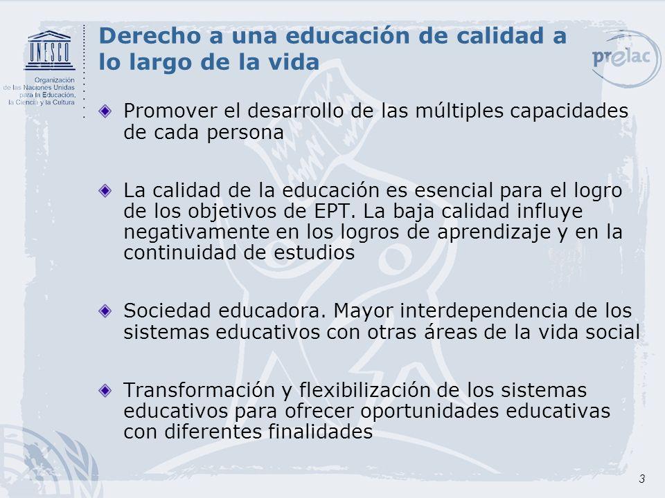 Derecho a una educación de calidad a lo largo de la vida
