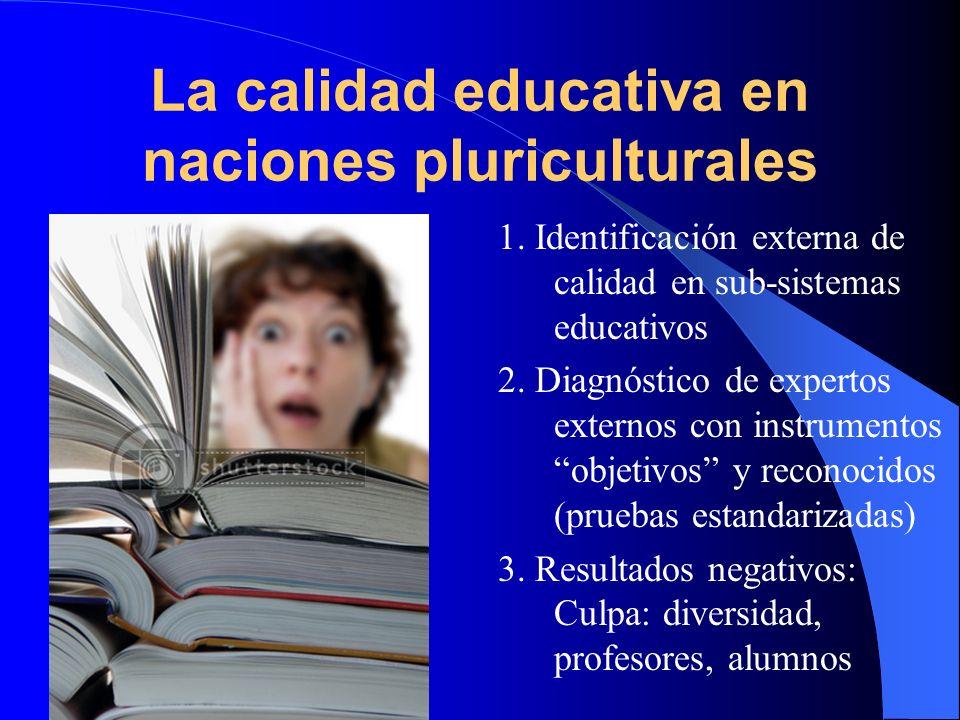 La calidad educativa en naciones pluriculturales