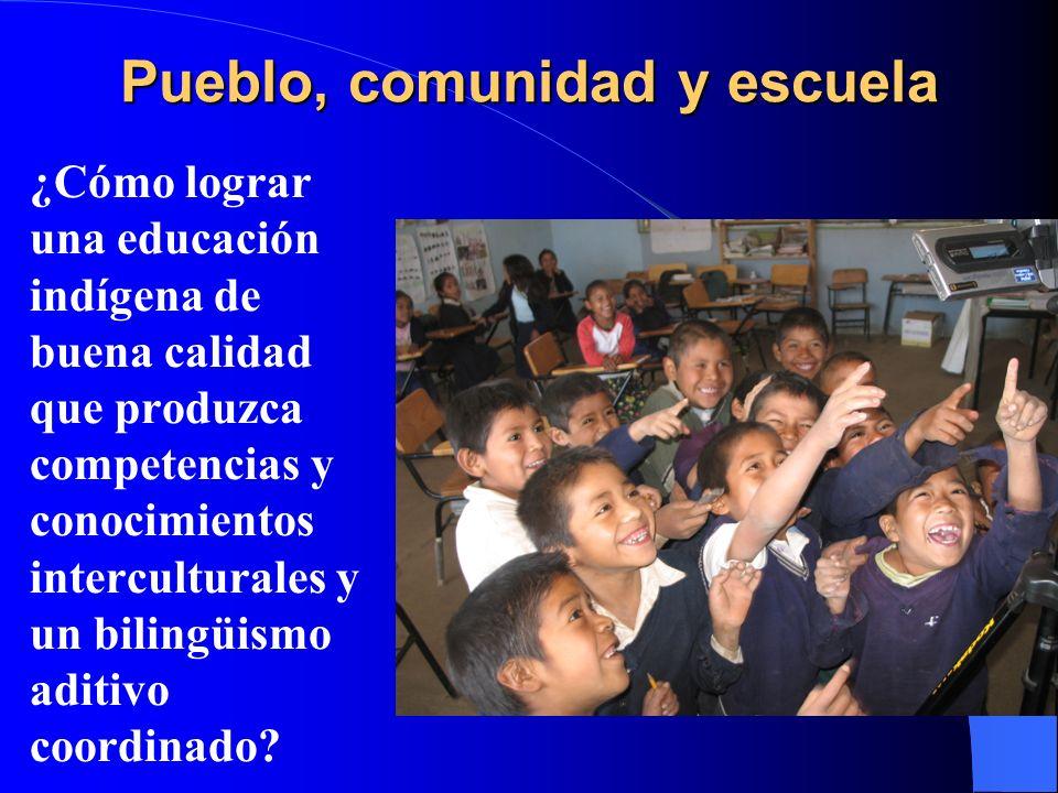 Pueblo, comunidad y escuela