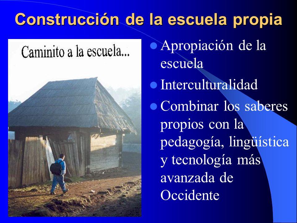Construcción de la escuela propia