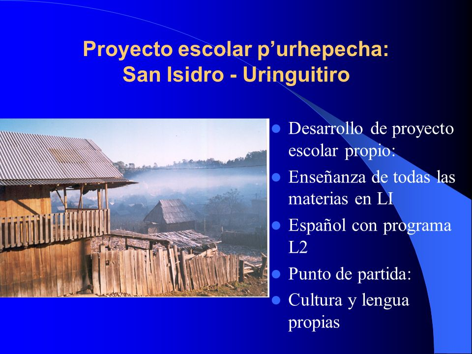 Proyecto escolar p'urhepecha: San Isidro - Uringuitiro