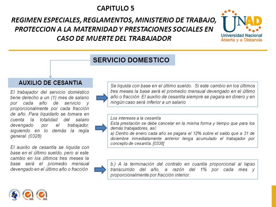 Capitulo 5 Regimen Especiales Reglamentos Ministerio De