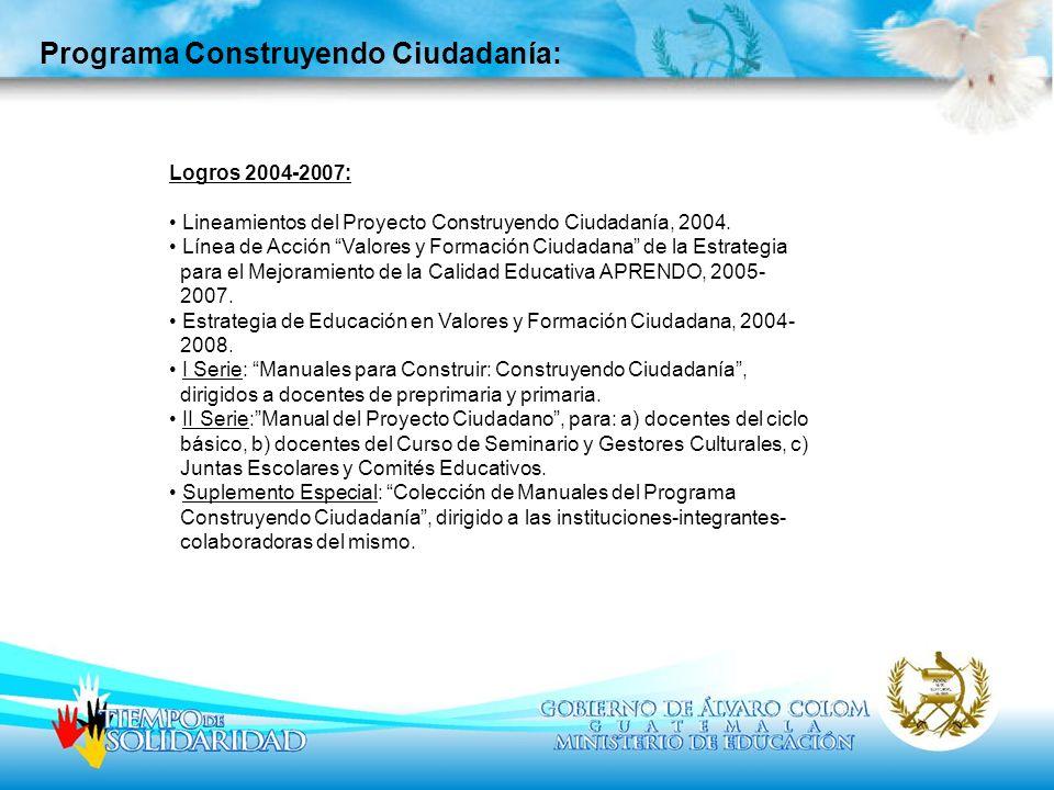 Programa Construyendo Ciudadanía: