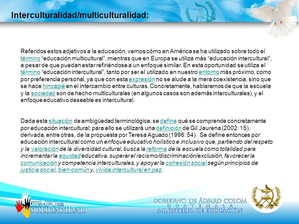 Interculturalidad/multiculturalidad: