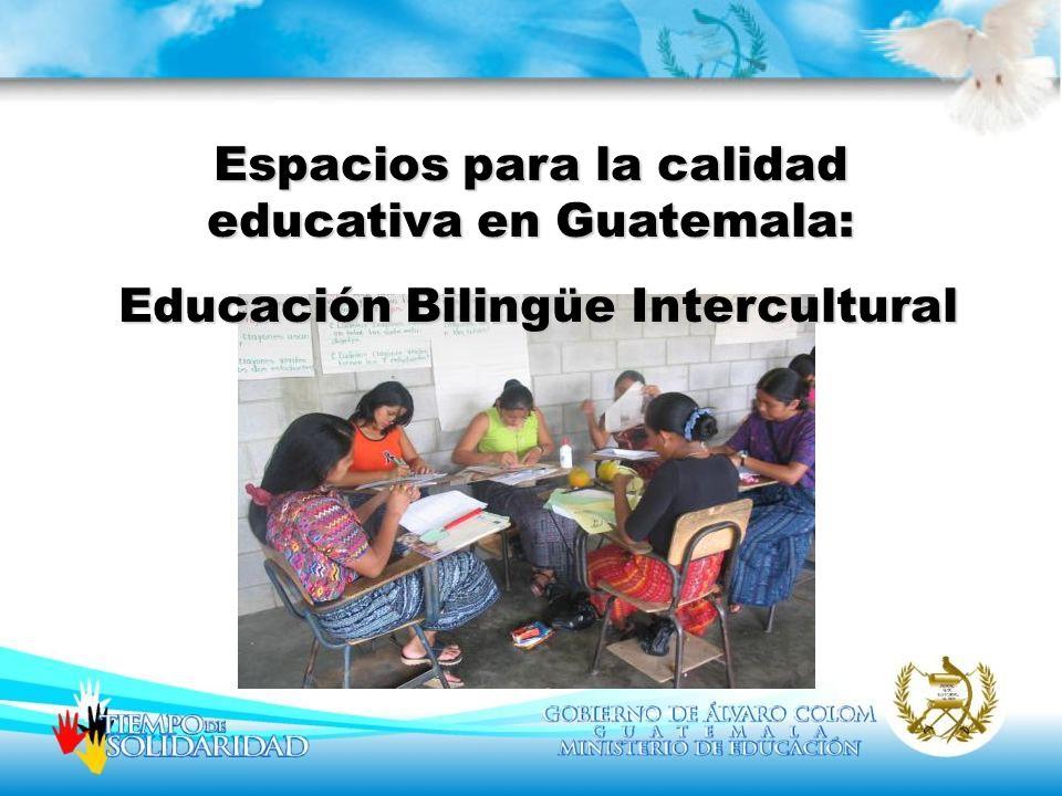 Espacios para la calidad educativa en Guatemala: