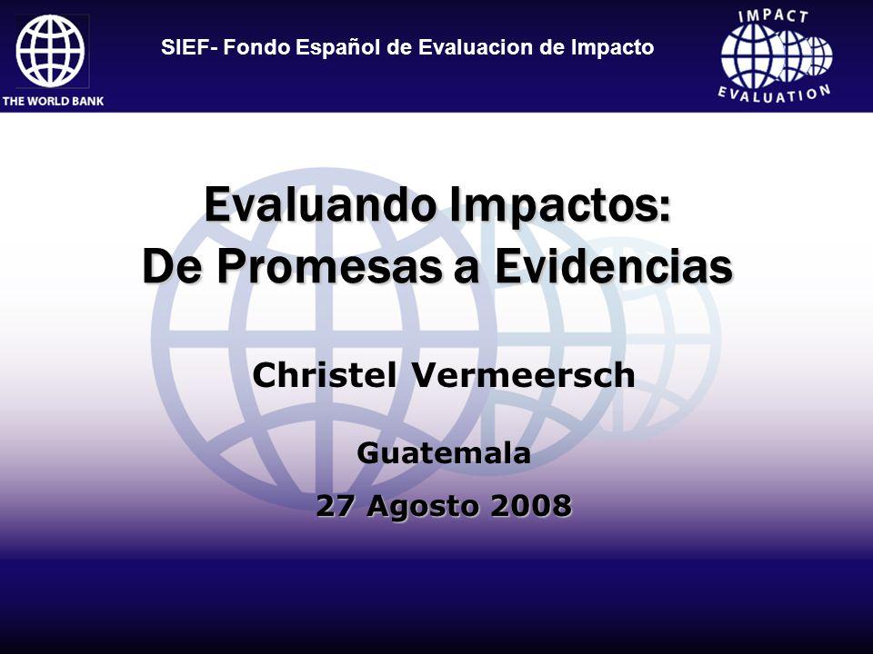 Evaluando Impactos: De Promesas a Evidencias
