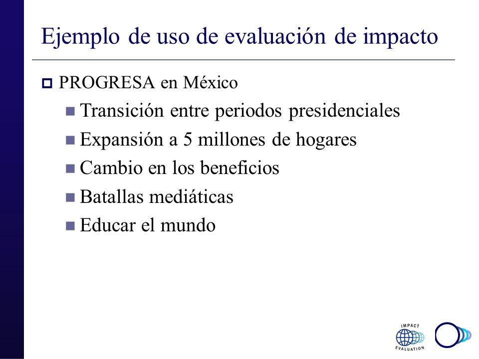 Ejemplo de uso de evaluación de impacto