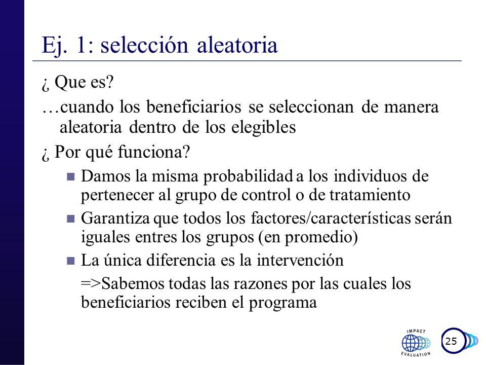Ej. 1: selección aleatoria