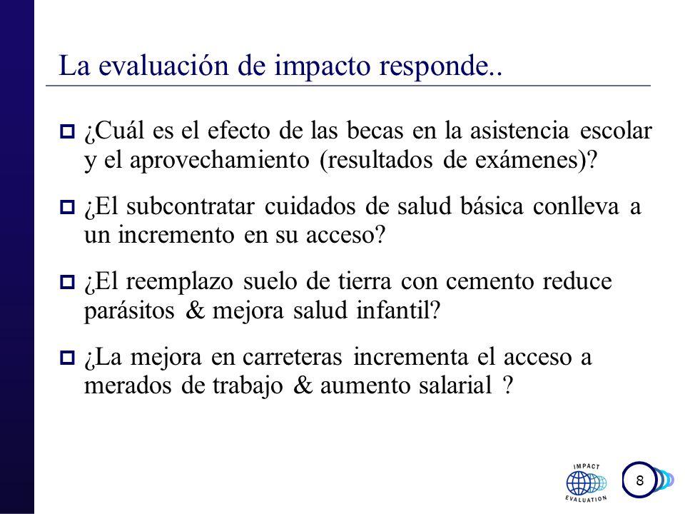 La evaluación de impacto responde..