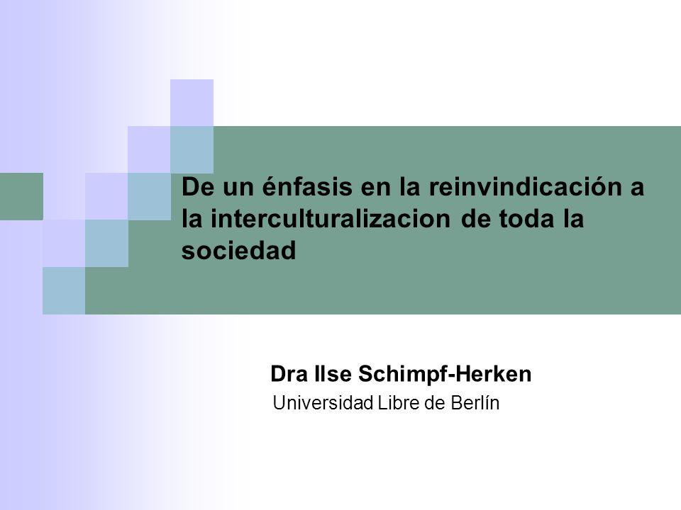 Dra Ilse Schimpf-Herken Universidad Libre de Berlín