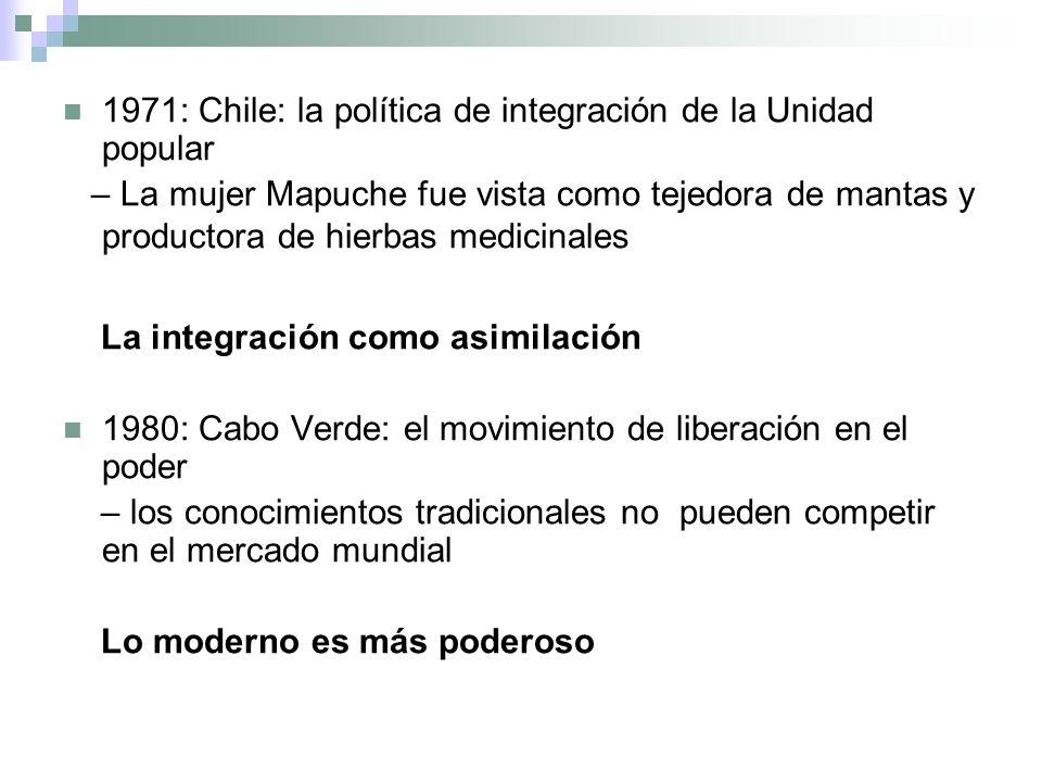1971: Chile: la política de integración de la Unidad popular