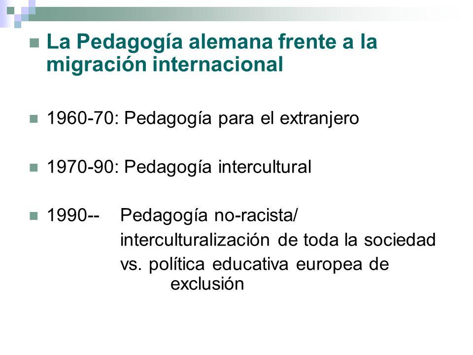 La Pedagogía alemana frente a la migración internacional