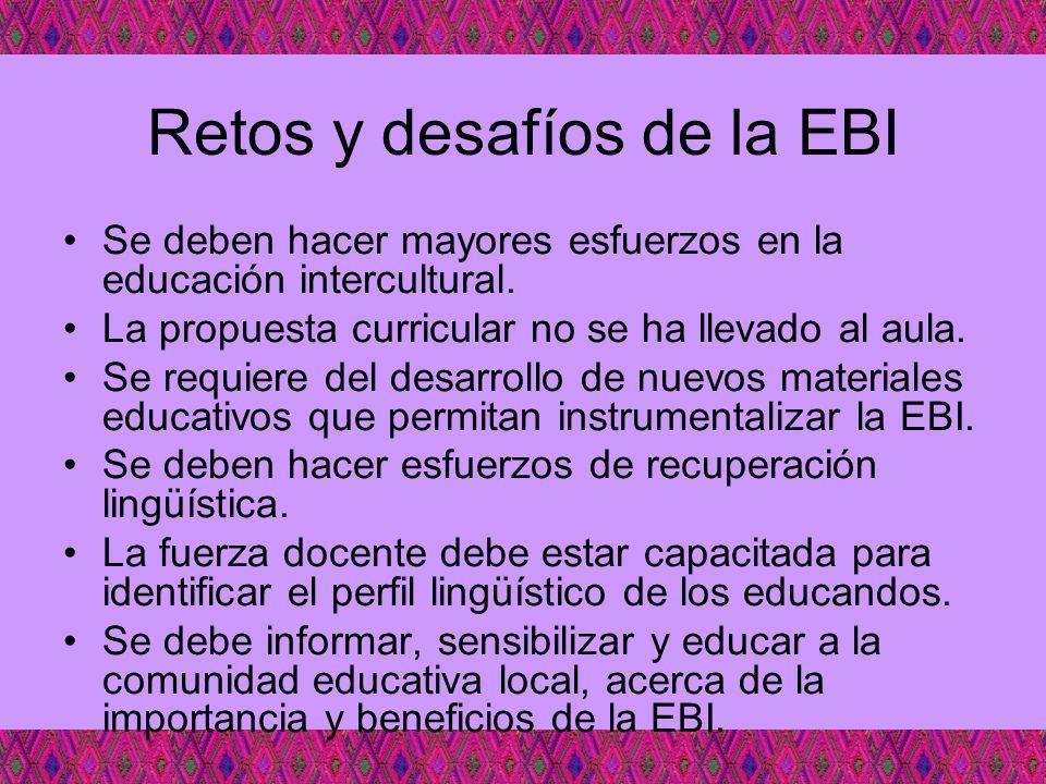 Retos y desafíos de la EBI