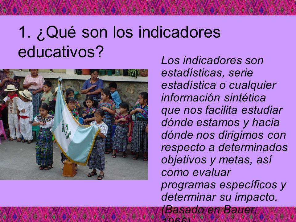 1. ¿Qué son los indicadores educativos