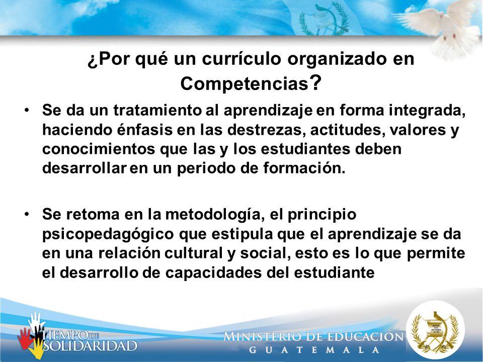 ¿Por qué un currículo organizado en Competencias