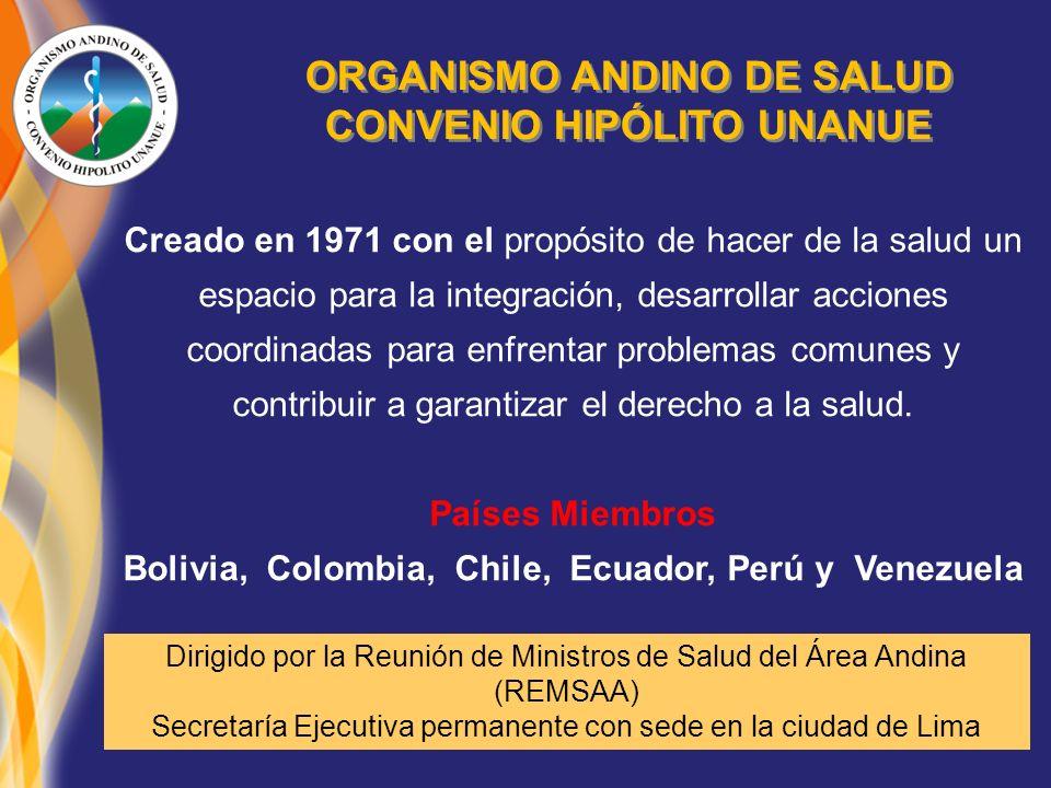 ORGANISMO ANDINO DE SALUD CONVENIO HIPÓLITO UNANUE