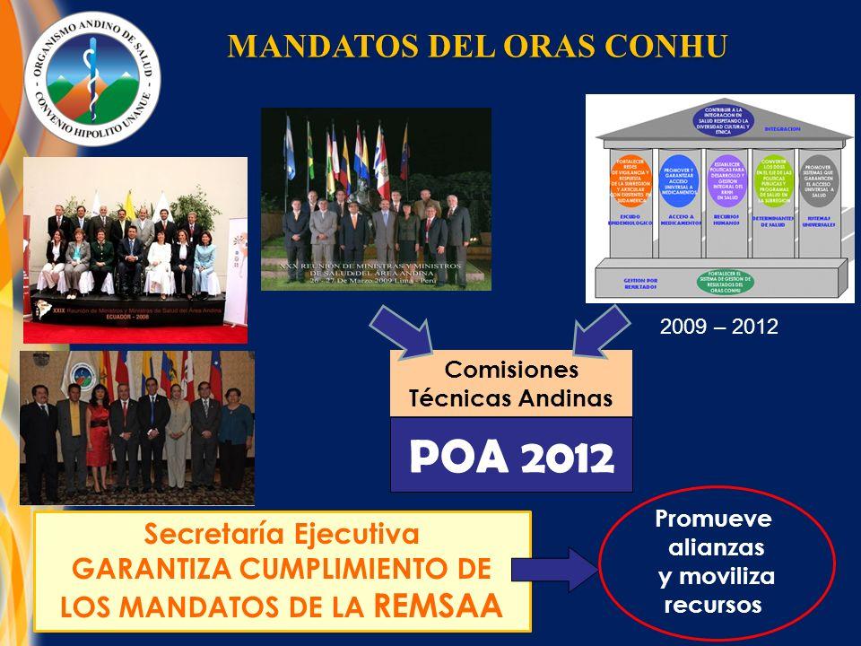 POA 2012 MANDATOS DEL ORAS CONHU Secretaría Ejecutiva