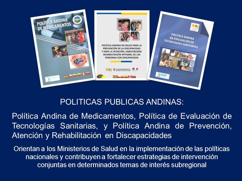 POLITICAS PUBLICAS ANDINAS: