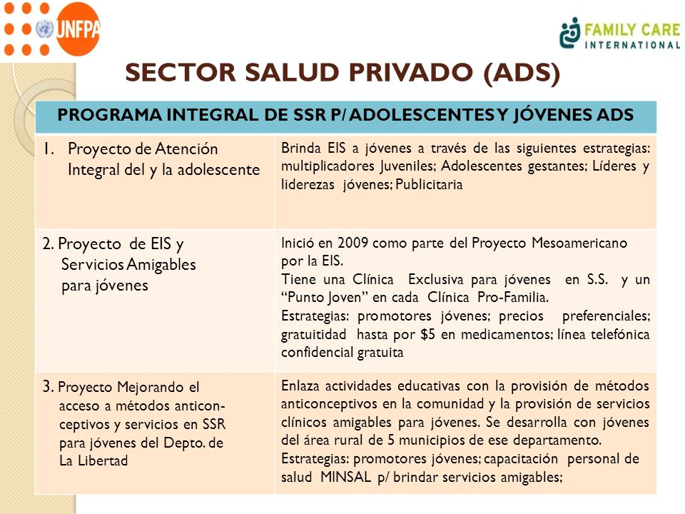 SECTOR SALUD PRIVADO (ADS)
