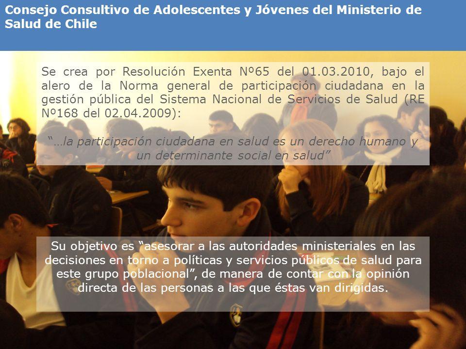 Consejo Consultivo de Adolescentes y Jóvenes del Ministerio de Salud de Chile