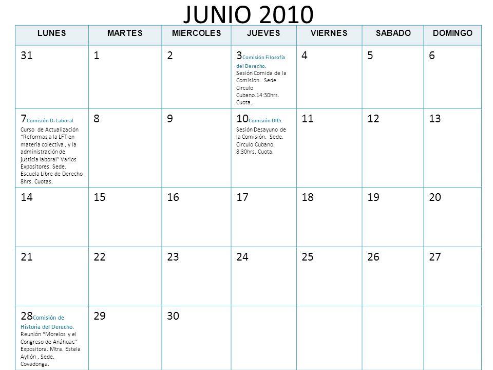 JUNIO 2010 31 1 2 3Comisión Filosofía del Derecho. 4 5 6