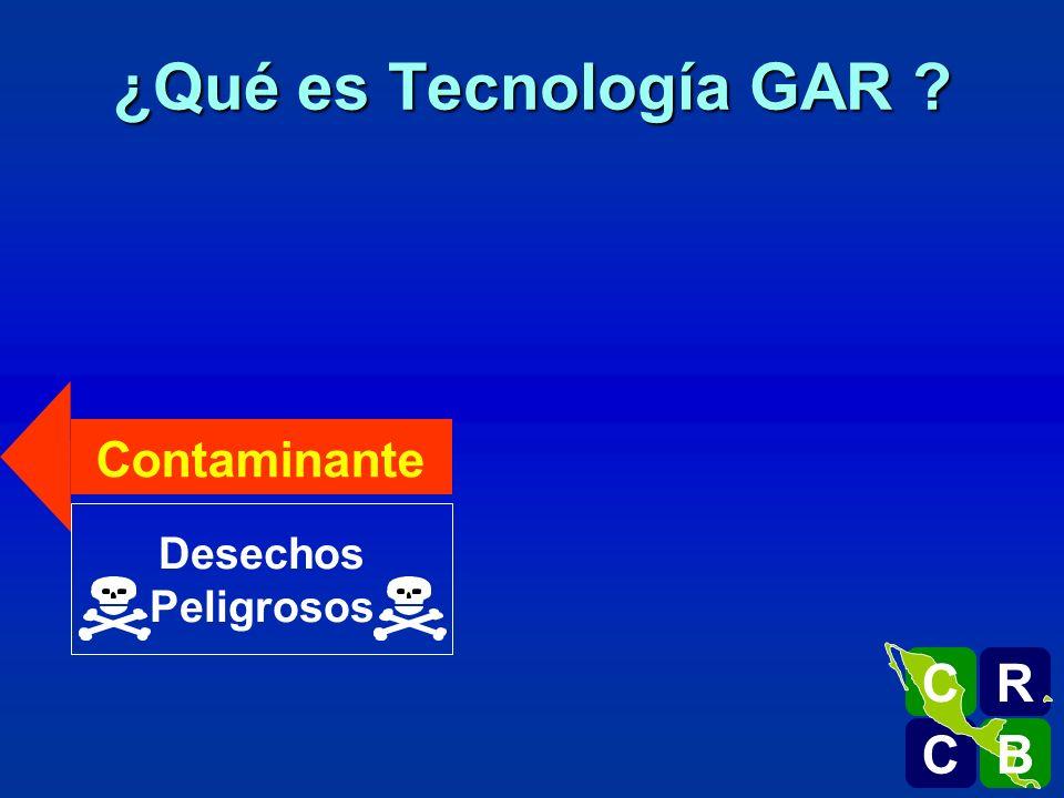 ¿Qué es Tecnología GAR Contaminante Desechos Peligrosos R C B