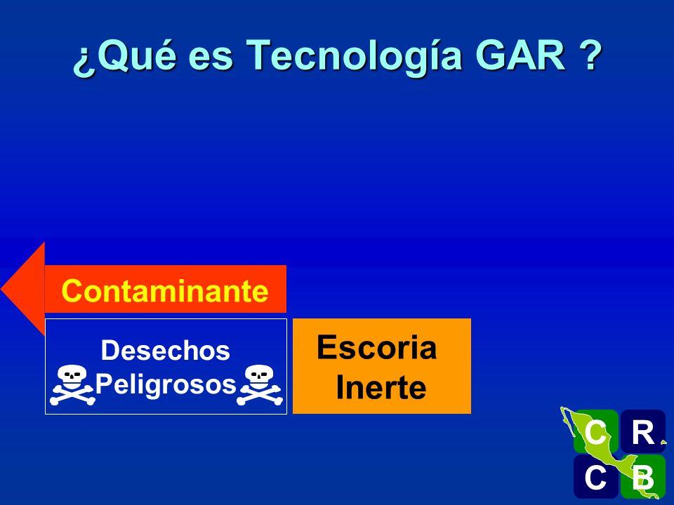 ¿Qué es Tecnología GAR Escoria Inerte R C B Contaminante Desechos