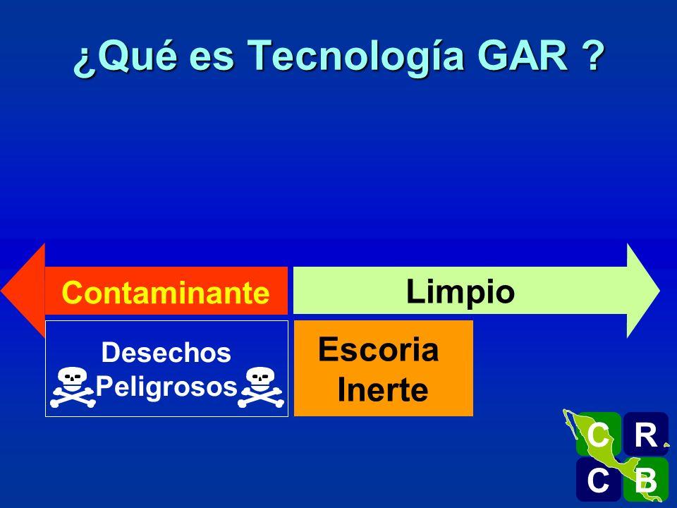 ¿Qué es Tecnología GAR Limpio Escoria Inerte R C B Contaminante