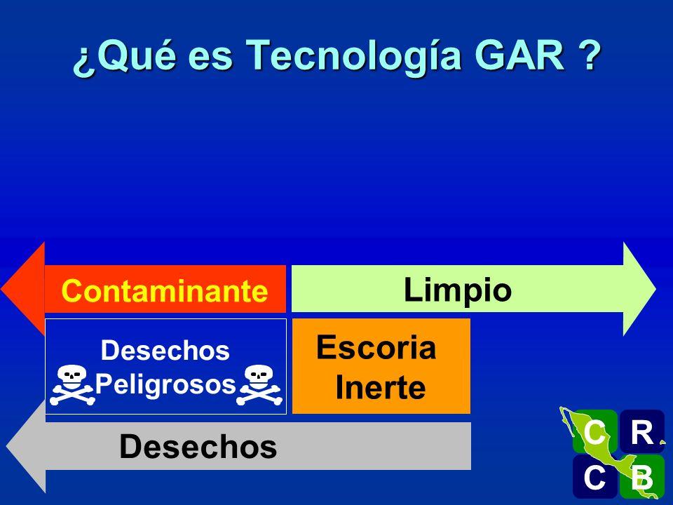 ¿Qué es Tecnología GAR Limpio Escoria Inerte Desechos R C B