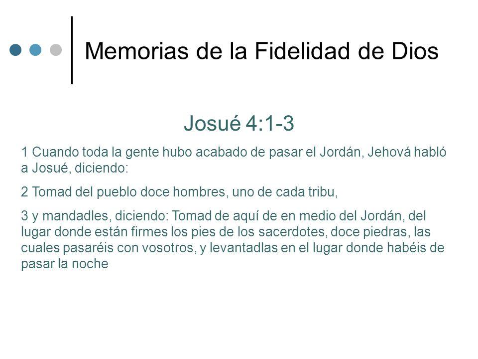 Memorias de la Fidelidad de Dios