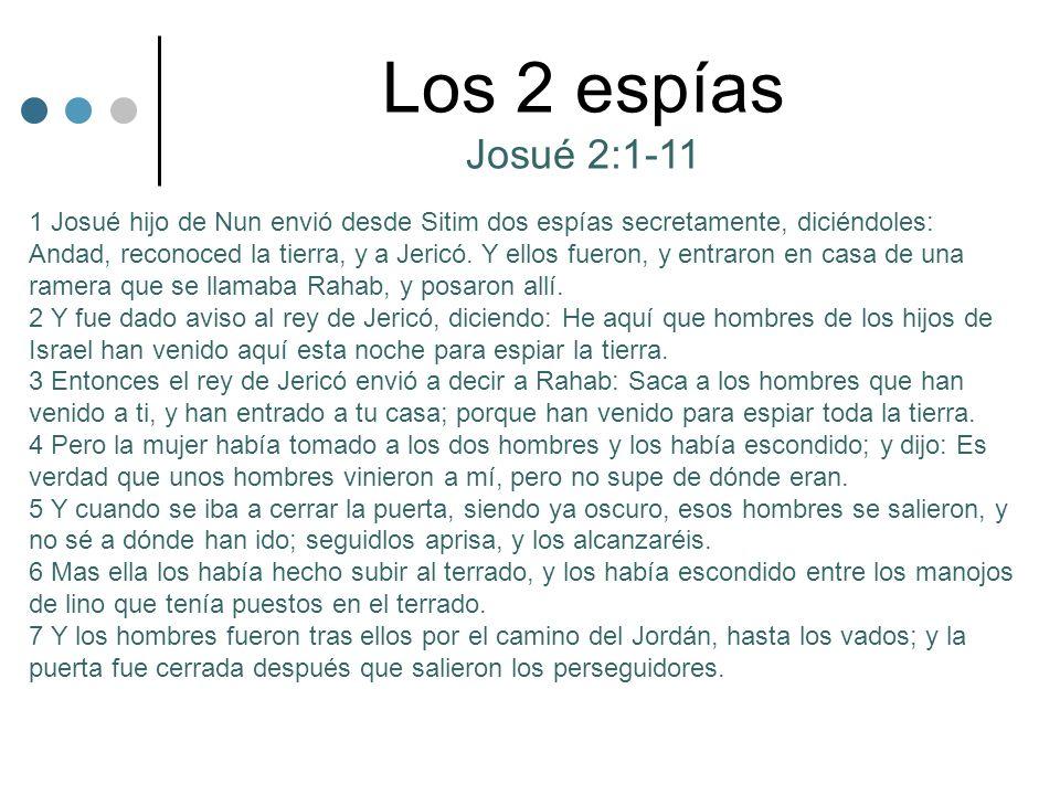 Los 2 espías Josué 2:1-11