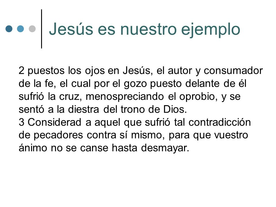 Jesús es nuestro ejemplo