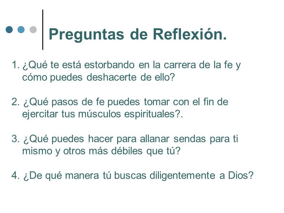 Preguntas de Reflexión.