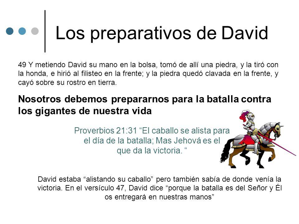 Los preparativos de David