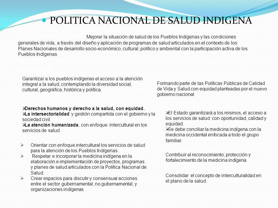 POLITICA NACIONAL DE SALUD INDIGENA
