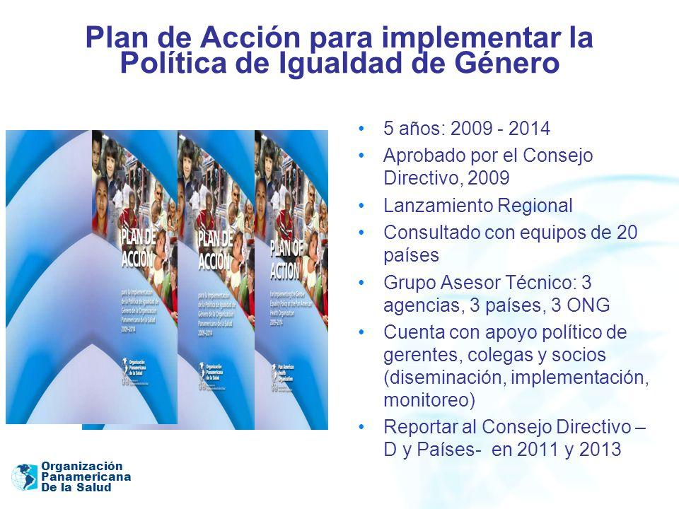 Plan de Acción para implementar la Política de Igualdad de Género