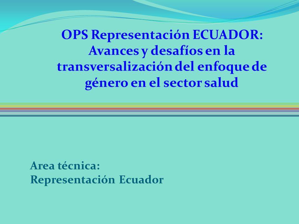 OPS Representación ECUADOR: