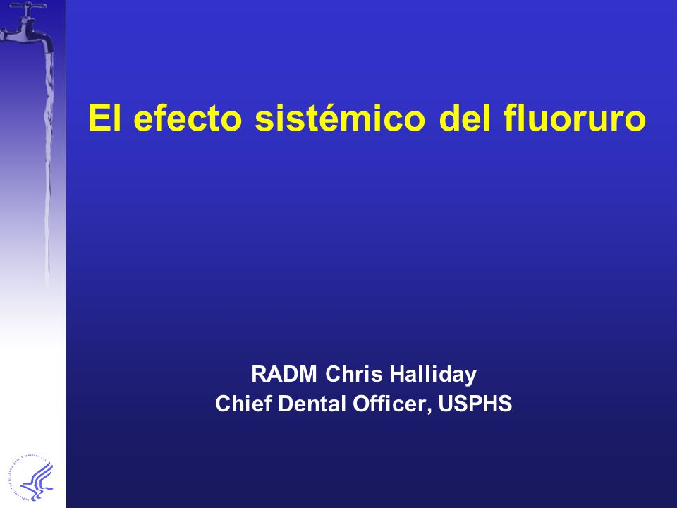 El efecto sistémico del fluoruro
