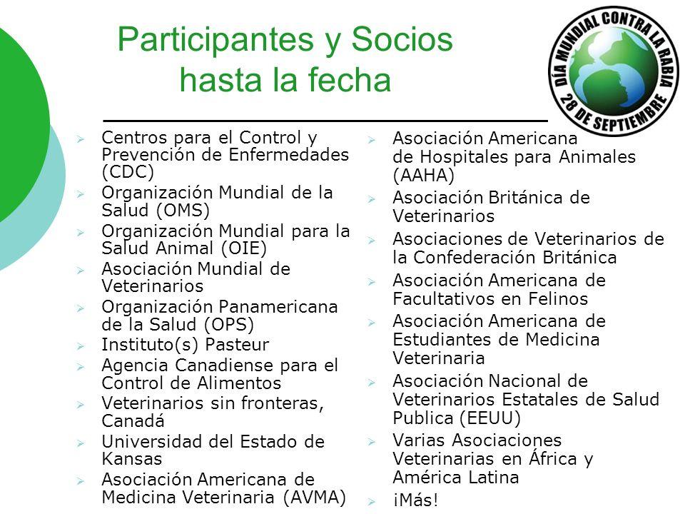 Participantes y Socios hasta la fecha