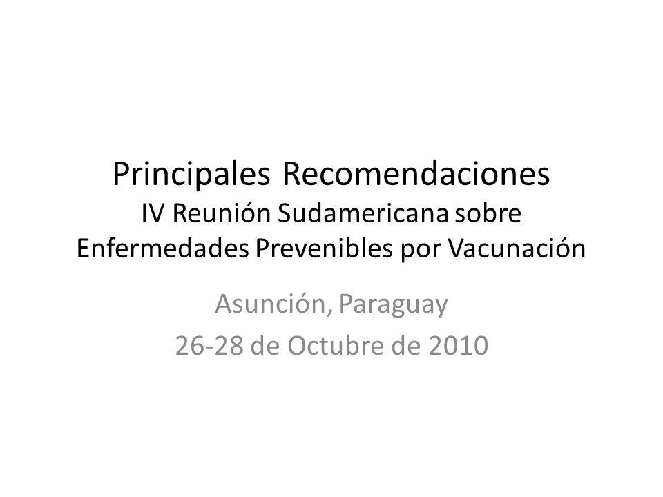 Asunción, Paraguay 26-28 de Octubre de 2010
