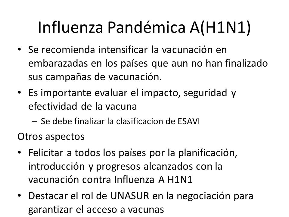 Influenza Pandémica A(H1N1)