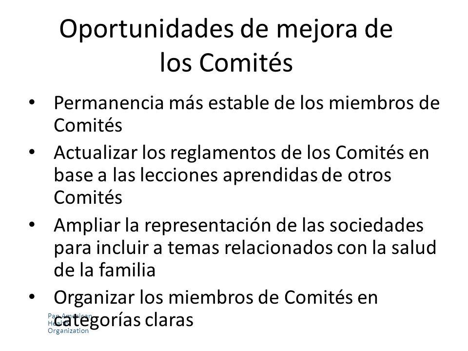 Oportunidades de mejora de los Comités