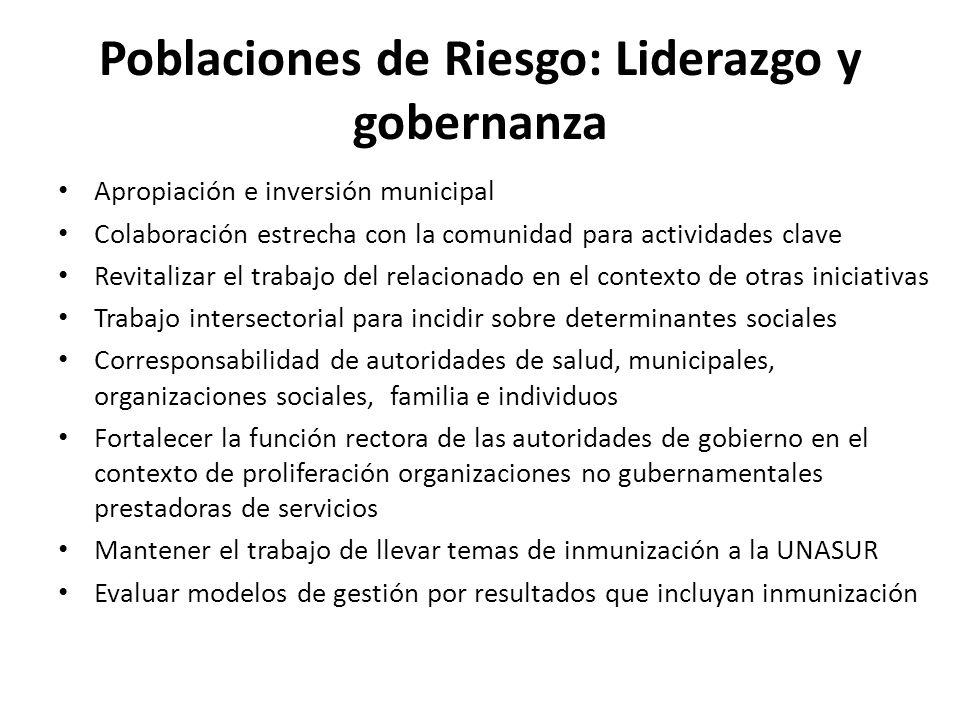 Poblaciones de Riesgo: Liderazgo y gobernanza