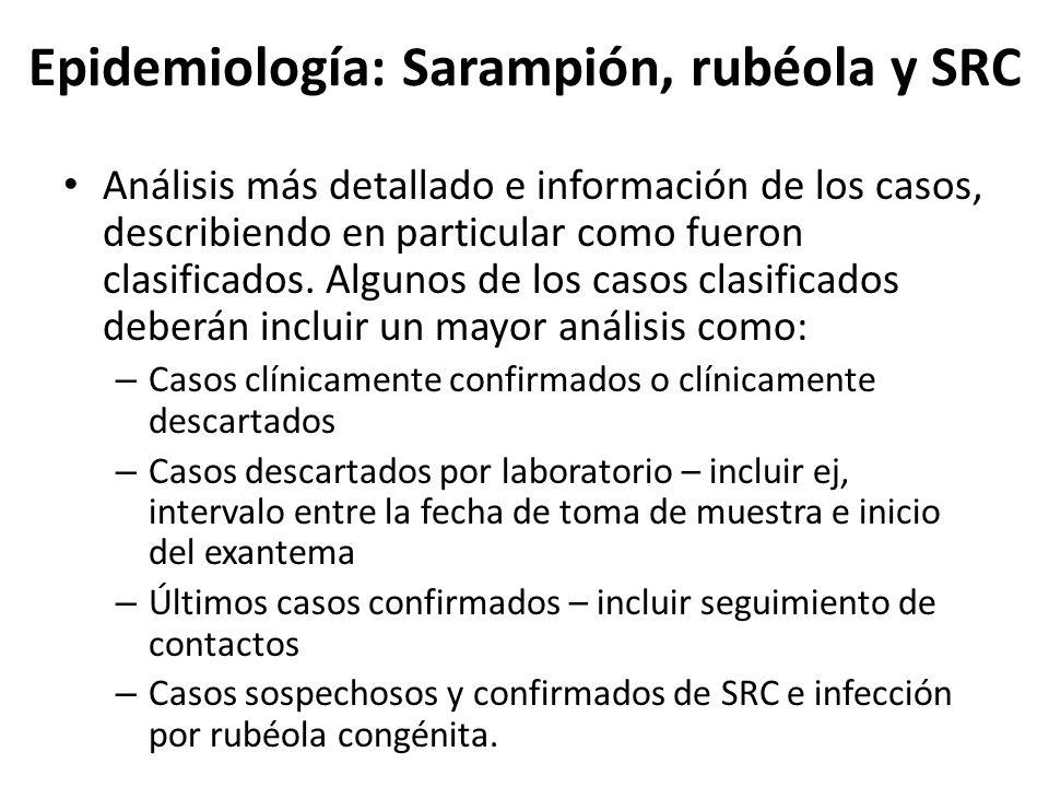 Epidemiología: Sarampión, rubéola y SRC