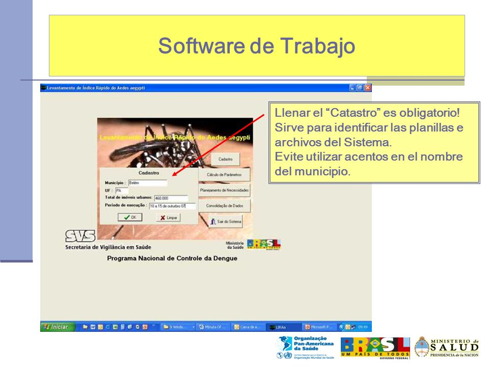 Software de Trabajo Llenar el Catastro es obligatorio!