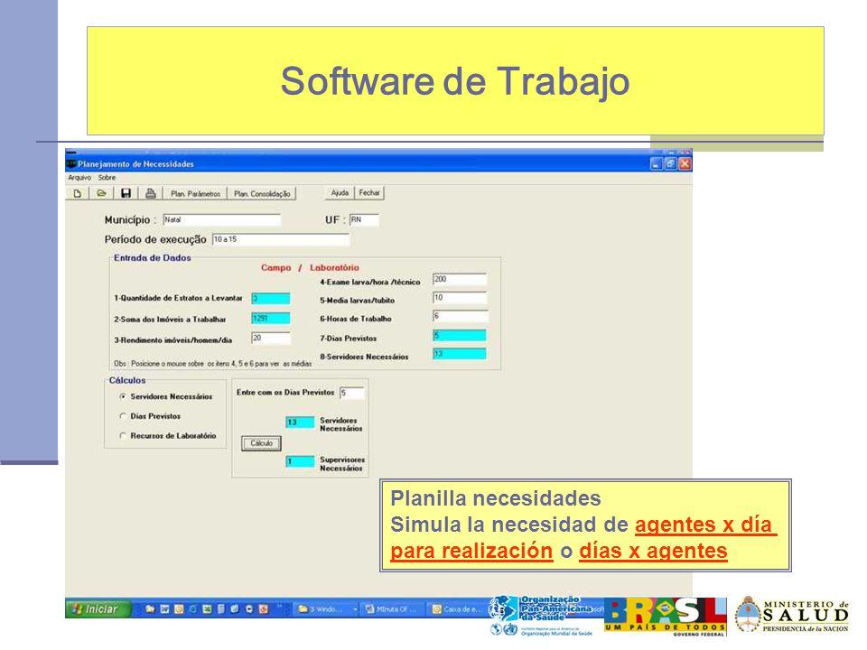 Software de Trabajo Planilla necesidades