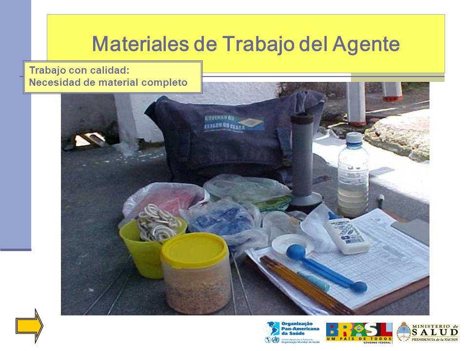 Materiales de Trabajo del Agente