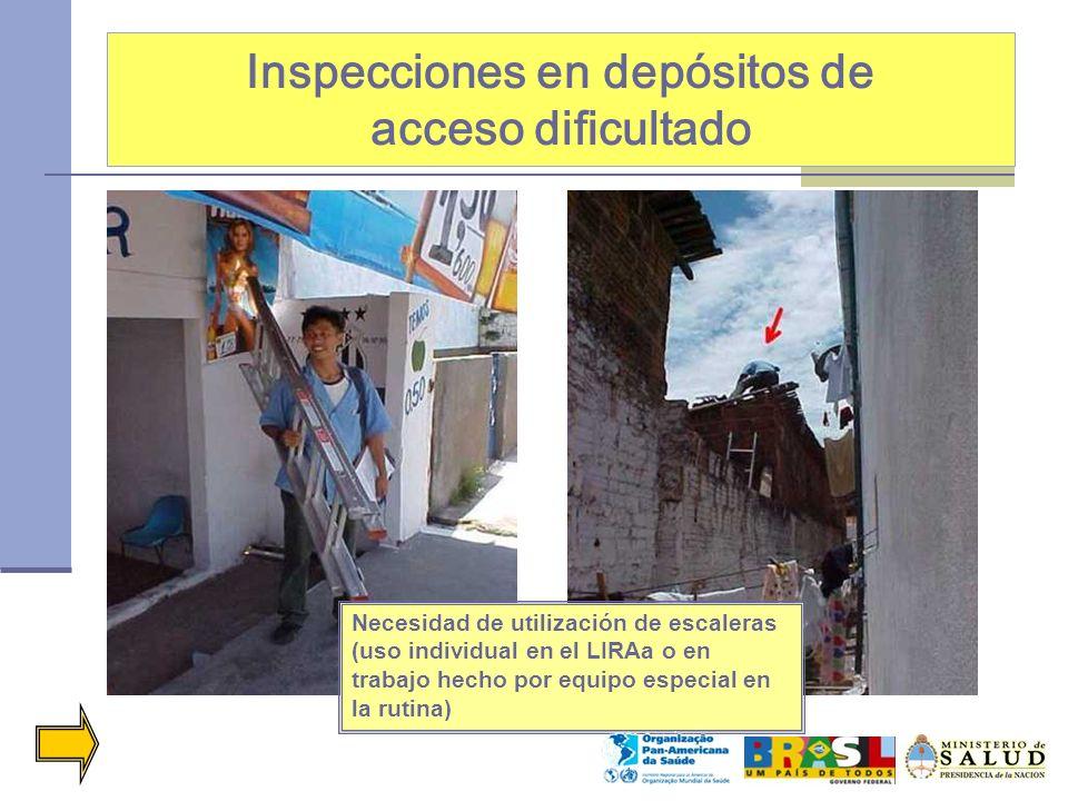 Inspecciones en depósitos de acceso dificultado